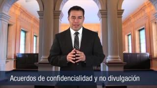 Acuerdos de confidencialidad y no divulgación