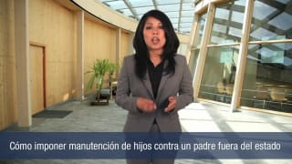 Video Cómo imponer manutención de hijos contra un padre fuera del estado