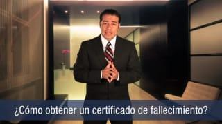 Video Cómo obtener un certificado de difunción