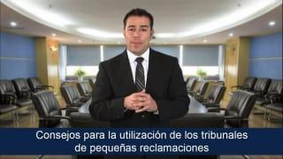Video Consejos para la utilización de los tribunales de pequeñas reclamaciones