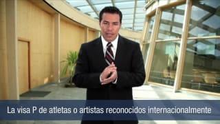 La visa P de atletas o artistas recinicidos internacionalmente