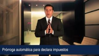 Video Prórroga automática para declara impuestos