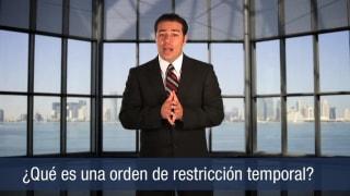 ¿Qué es una orden de restricción temporal?
