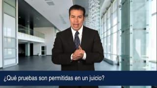 Video ¿Qué pruebas son permitidas en un juicio?