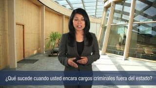 Video ¿Qué sucede cuando usted encara cargos criminales fuera del estado?