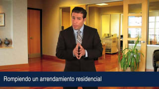 Rompiendo un arrendamiento residencial
